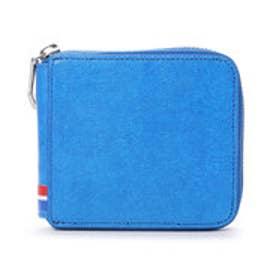 サマンサキングズ トリコロールカラー折財布(ラウンドジップ)(ブルー)