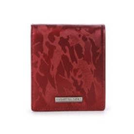 サマンサキングズ カモフラレザー 折財布(ワインレッド)