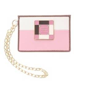 サマンサタバサプチチョイス カラーブロッキングシリーズ パスケース(ピンク)