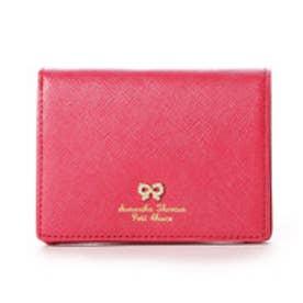 サマンサタバサプチチョイス リボンストーン モチーフシリーズ ミニ折財布(マゼンダ)