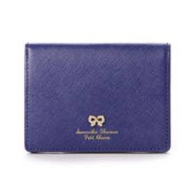 サマンサタバサプチチョイス リボンストーン モチーフシリーズ ミニ折財布(ネイビー)