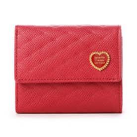 サマンサタバサプチチョイス ハートブローチシリーズ 口金財布(レッド)
