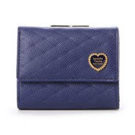 サマンサタバサプチチョイス ハートブローチシリーズ 口金財布(ネイビー)