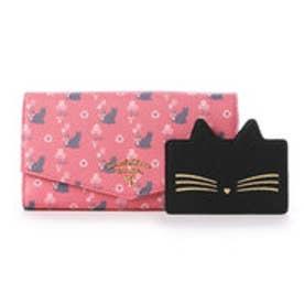 サマンサタバサプチチョイス バルーンキャットシリーズ ガジェット対応長財布(ピンク)