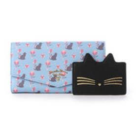 サマンサタバサプチチョイス バルーンキャットシリーズ ガジェット対応長財布(ライトブルー)