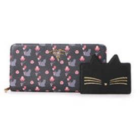 サマンサタバサプチチョイス バルーンキャットシリーズ ラウンドジップ長財布(ブラック)