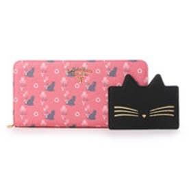 サマンサタバサプチチョイス バルーンキャットシリーズ ラウンドジップ長財布(ピンク)