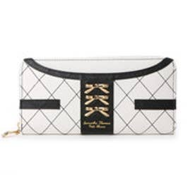 サマンサタバサプチチョイス シンプルリボンプレート ジャケット調バージョン 長財布(ホワイト)