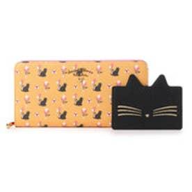 サマンサタバサプチチョイス バルーンキャットシリーズ ラウンドジップ長財布(オレンジ)