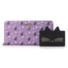 サマンサタバサプチチョイス バルーンキャットシリーズ ラウンドジップ長財布(ブルーパープル)