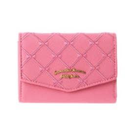 サマンサタバサプチチョイス リボンキルトシリーズ 三つ折り財布(ピンク)