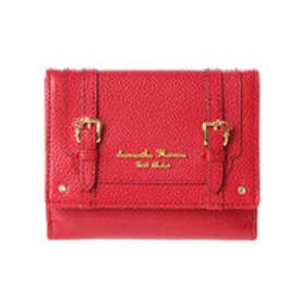 サマンサタバサプチチョイス フラワーベルトモチーフ 折財布(レッド)