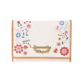 サマンサベガ フラワープリント ミニ財布(ホワイト)