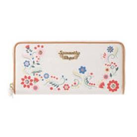サマンサベガ フラワープリント ラウンド財布(ホワイト)