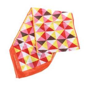 サマンサタバサデラックス 幾何学柄スカーフ(オレンジ)