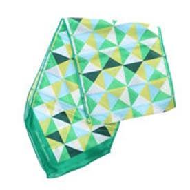 サマンサタバサデラックス 幾何学柄スカーフ(グリーン)
