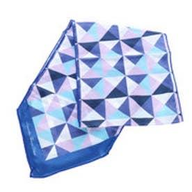 サマンサタバサデラックス 幾何学柄スカーフ(ブルー)
