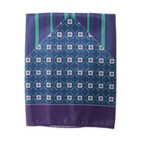サマンサタバサ vintage柄スカーフ(ネイビー)