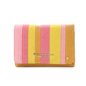 サマンサタバサプチチョイス レトロ風ストライプシリーズ 折財布(キャメル)