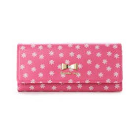 サマンサベガ フラワープリントかぶせ財布(ピンク)