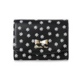 サマンサベガ フラワープリント折財布(ブラック)