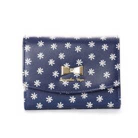 サマンサベガ フラワープリント折財布(ネイビー)