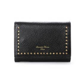 サマンサタバサデラックス スタッズデザイン 三つ折り財布(ブラック)
