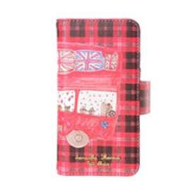 サマンサタバサプチチョイス Lara Collection ロンドンシリーズ iPhone7ケース(BOOK型)(レッド)