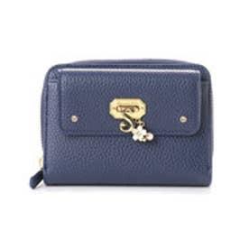サマンサベガ フラワーモチーフ折財布(ネイビー)