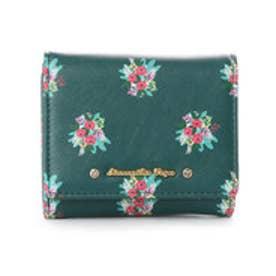 サマンサベガ フラワープリント ミニ財布(グリーン)