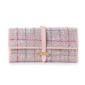 サマンサタバサプチチョイス ベルトシリーズ ツイードバージョン 折財布【3年保証対象品】(ベビーピンク)