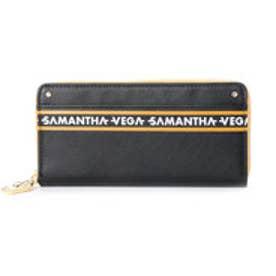 サマンサベガ ライン ラウンド長財布(ブラック)