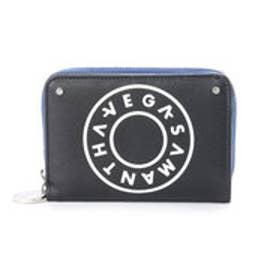 サマンサベガ ボーリングプリント 折財布(ブラック)