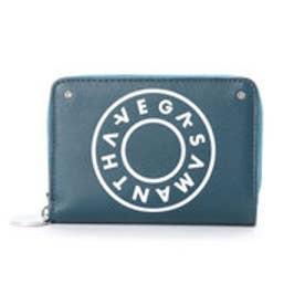 サマンサベガ ボーリングプリント 折財布(ダークグリーン)