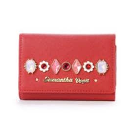 サマンサベガ フラワービジューミニ財布(レッド)