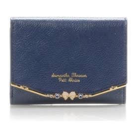 サマンサタバサプチチョイス リボンバー金具シリーズ 折財布(ネイビー)
