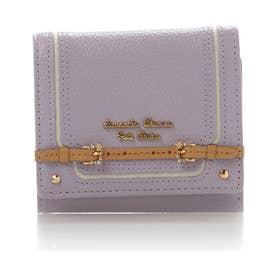 サマンサタバサプチチョイス ベルトデザインシリーズ 折財布(ラベンダー)