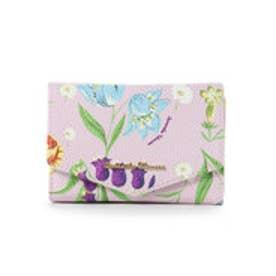 サマンサタバサ ハイキングフラワー小物(折り財布)(ピンク)