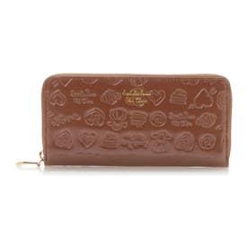 サマンサタバサプチチョイス Lara Collection ベルギーシリーズ エナメル ラウンドジップ長財布(ブラウン)