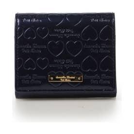 【雑誌掲載】サマンサタバサプチチョイス パールエナメルシリーズ 折財布(ネイビー)