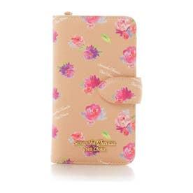サマンサタバサプチチョイス フラワープリントシリーズ iPhone8ケース(ベージュ)