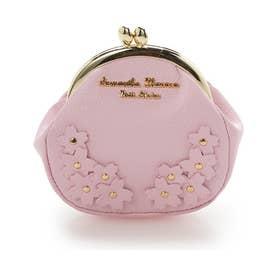 サマンサタバサプチチョイス Lara Collection 日本 サクラ柄お財布シリーズ ミニがま口(ピンク)