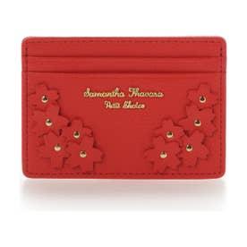 サマンサタバサプチチョイス Lara Collection 日本 サクラ柄お財布シリーズ パスケース(レッド)