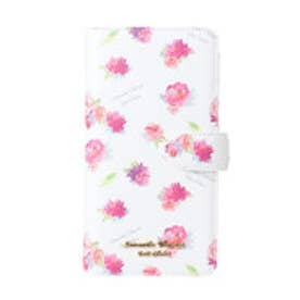 サマンサタバサプチチョイス フラワープリントシリーズ iPhone8+ケース(ホワイト)