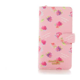 サマンサタバサプチチョイス フラワープリントシリーズ iPhone8+ケース(ピンクベージュ)