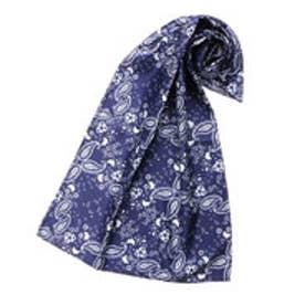 サマンサタバサ ペイズリー スカーフ(ネイビー)