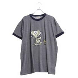 サマンサタバサデラックス スヌーピー カジュアルTシャツ(グレー)
