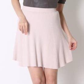【Ray掲載商品】ウィルセレクション Acリブフレアースカート(ピンク)