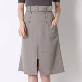 スウィングル ベルト付ロングタイトスカート(カーキ)