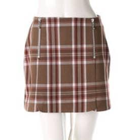 レディアゼル チェックZIP台形スカート(グリーン系チェック)